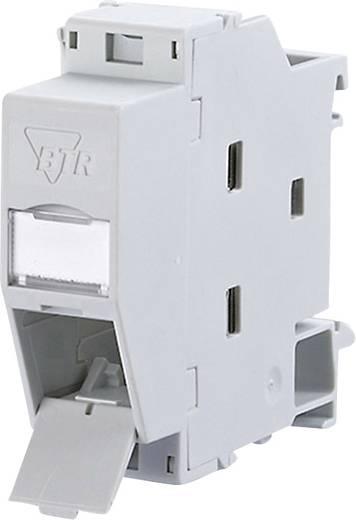 Netzwerkdose Hutschiene CAT 6 Metz Connect 1309427103-E Licht-Grau