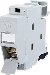 netzwerkdose hutschiene cat 6 metz connect 1309426003 e lichtgrau ral 7035. Black Bedroom Furniture Sets. Home Design Ideas