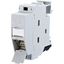 Sieťová zásuvka klobúčikové tienidlo Metz Connect 130B127003-E, CAT 6A