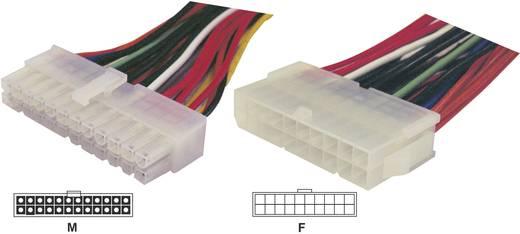 Strom Verlängerungskabel [1x ATX-Strom-Stecker 24pol. - 1x ATX-Strom-Buchse 20pol.] 0.15 m Bunt