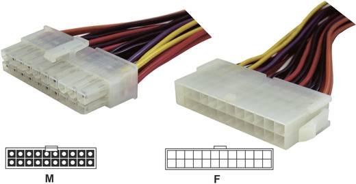 Strom Verlängerungskabel [1x ATX-Strom-Stecker 20pol. - 1x ATX-Strom-Buchse 24pol.] 0.15 m Bunt Goobay