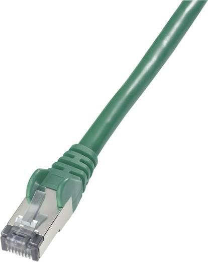RJ45 Netzwerk Anschlusskabel CAT 6 S/FTP 0.50 m Grün Flammwidrig, mit Rastnasenschutz Goobay