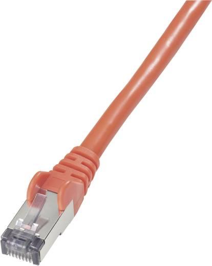 RJ45 Netzwerk Anschlusskabel CAT 6 S/FTP 3 m Rot Flammwidrig, mit Rastnasenschutz Goobay