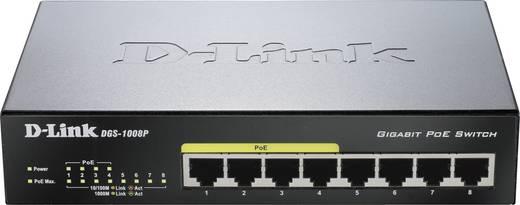 Netzwerk Switch RJ45 D-Link DGS-1008P 8 Port 1 GBit/s PoE-Funktion