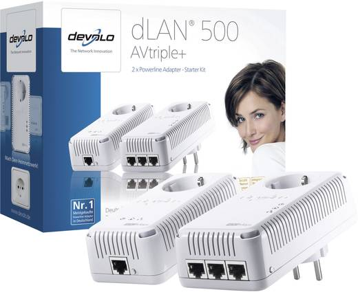 Powerline Starter Kit 500 MBit/s Devolo dLAN 500 AVtriple+
