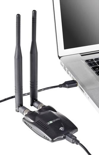 WLAN Adapter USB 2.0 300 MBit/s mit 2 abnehmbaren Antennen