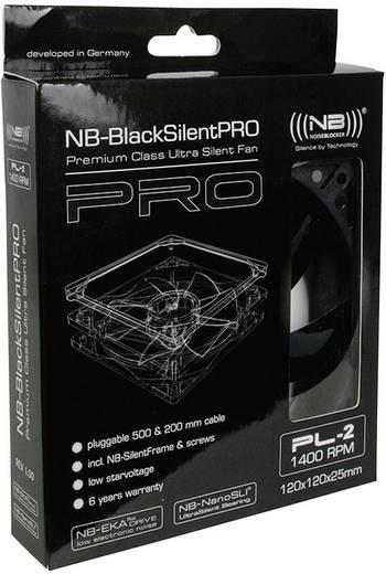 PC-Gehäuse-Lüfter NoiseBlocker L-PL2R Schwarz (B x H x T) 120 x 120 x 25 mm