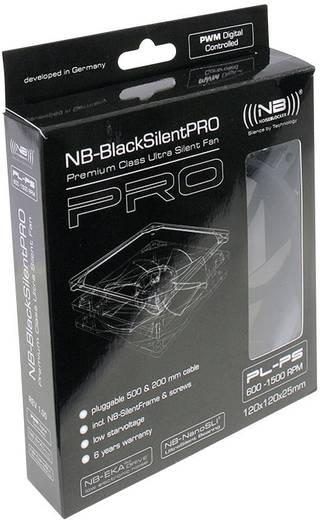 PC-Gehäuse-Lüfter NoiseBlocker L-PLPS Schwarz (B x H x T) 120 x 120 x 25 mm