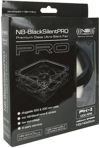 PC-Gehäuse-Lüfter NoiseBlocker L-PK2R Schwarz (B x H x T) 140 x 140 x 25 mm