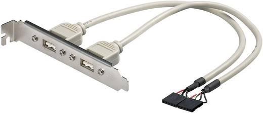 USB 2.0 Adapter [2x USB 2.0 Stecker intern 5pol. - 2x USB 2.0 Buchse A] Grau Goobay