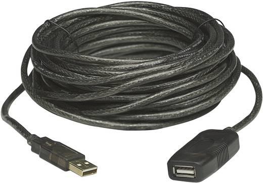 USB 2.0 Verlängerungskabel [1x USB 2.0 Stecker A - 1x USB 2.0 Buchse A] 20 m Schwarz Manhattan