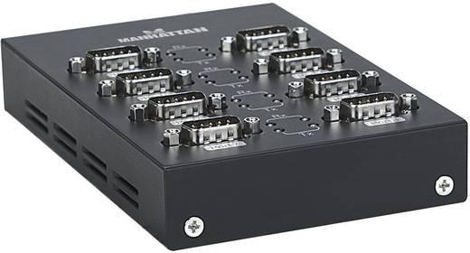 USB 2.0 Adapter [8x D-SUB-Stecker 9pol. - 1x USB 2.0 Buchse B] Schwarz Manhattan
