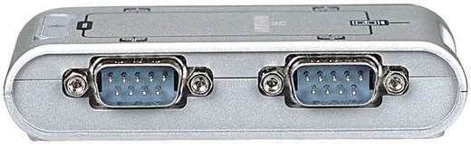 USB 2.0 Adapter [4x D-SUB-Stecker 9pol. - 1x USB 2.0 Buchse B] Silber Manhattan