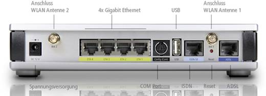 Lancom Systems 1781AW WLAN Router mit Modem Integriertes Modem: ADSL, ADSL2+ 2.4 GHz, 5 GHz 300 MBit/s