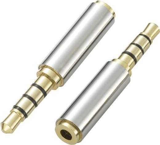 SpeaKa Professional Klinke Audio Adapter [1x Klinkenstecker 3.5 mm - 1x Klinkenbuchse 2.5 mm] Silber