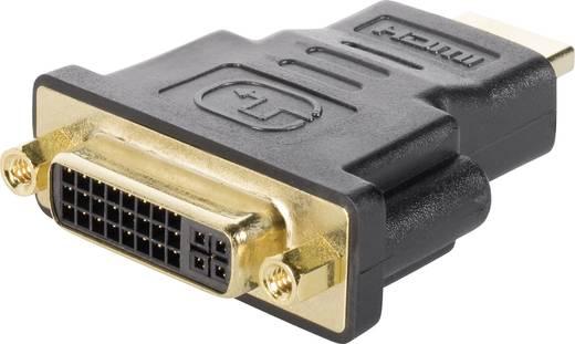 HDMI / DVI Adapter [1x HDMI-Stecker - 1x DVI-Buchse 24+5pol.] Schwarz vergoldete Steckkontakte Renkforce