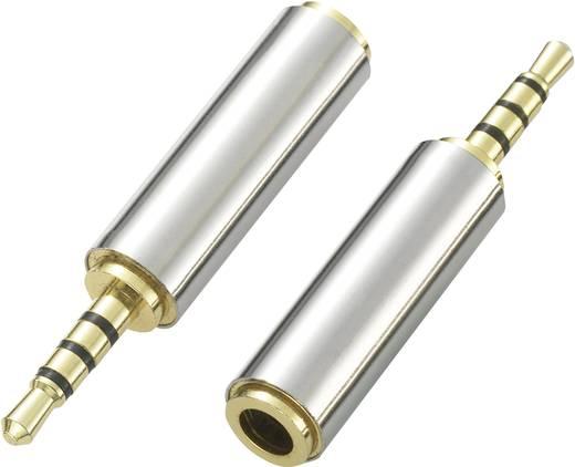 Klinke 4polig Audio Adapter [1x Klinkenstecker 2.5 mm - 1x Klinkenbuchse 3.5 mm] Silber SpeaKa Professional