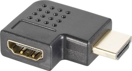 HDMI Adapter [1x HDMI-Stecker - 1x HDMI-Buchse] 90° nach rechts gewinkelt vergoldete Steckkontakte SpeaKa Professional