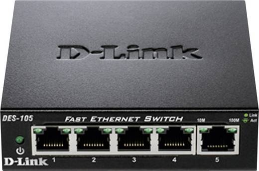Netzwerk Switch RJ45 D-Link DES-105 5 Port 100 MBit/s