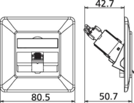 Netzwerkdose Unterputz Einsatz mit Zentralplatte und Rahmen CAT 6a 1 Port Metz Connect 130B11D11002-E Reinweiß