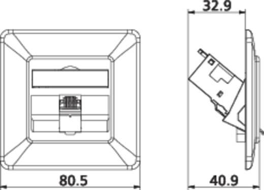Netzwerkdose Unterputz Einsatz mit Zentralplatte und Rahmen CAT 6a 1 Port Metz Connect 1309111001-E Perl-Weiß