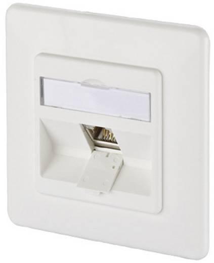 Netzwerkdose Unterputz Einsatz mit Zentralplatte und Rahmen CAT 6a 1 Port Metz Connect 1309111002-E Reinweiß