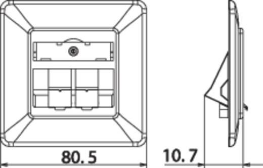 Netzwerkdose Unterputz Einsatz mit Zentralplatte und Rahmen Unbestückt 2 Port Metz Connect 1309151002-E