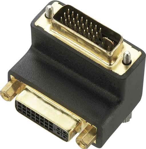 DVI Adapter [1x DVI-Stecker 24+5pol. - 1x DVI-Buchse 24+5pol.] 90° gewinkelt 0 m Schwarz Renkforce