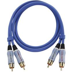 Cinch audio prepojovací kábel Oehlbach 2701, 1 m, modrá