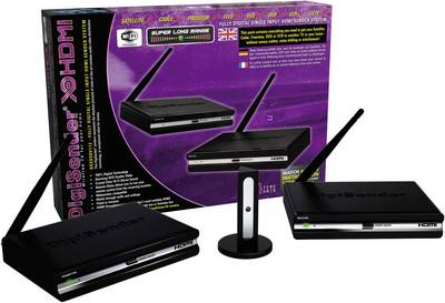 AEI DigiSender DGXDSDV112-EU Kit trasmissione segnali HDMI senza fili 40 m