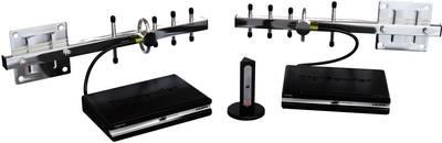 Kit trasmissione segnali HDMI senza fili AEI DigiSender DGXDSDV112SMA-2KM-EU 2000 m 2.4 GHz con telecomando