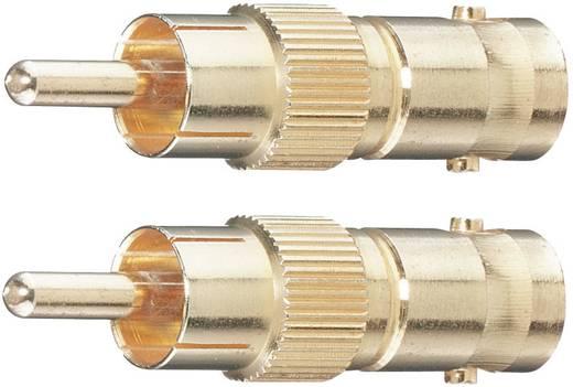 BNC / Cinch Adapter [1x Cinch-Stecker - 1x BNC-Buchse] Gold vergoldete Steckkontakte Oehlbach