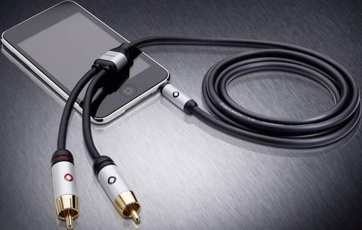 Cinch / Klinke Audio Anschlusskabel [2x Cinch-Stecker - 1x Klinkenstecker 3.5 mm] 1.50 m Schwarz vergoldete Steckkontakt