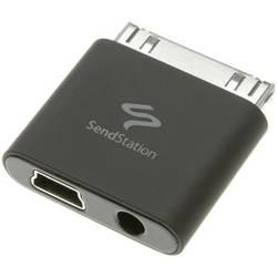 IPad/iPhone/iPod audio kábel/dátový kábel/nabíjací kábel SendStation 115228, 0 m, čierna