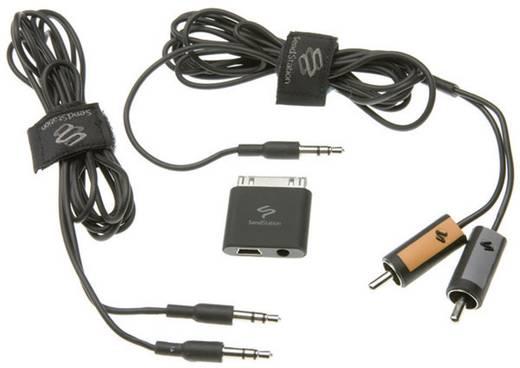 iPad/iPhone/iPod Audiokabel/Datenkabel/Ladekabel [1x Apple Dock-Stecker 30pol. - 1x Klinkenbuchse 3.5 mm, USB 2.0 Buchse Mini-B] 0 m Schwarz MacLand