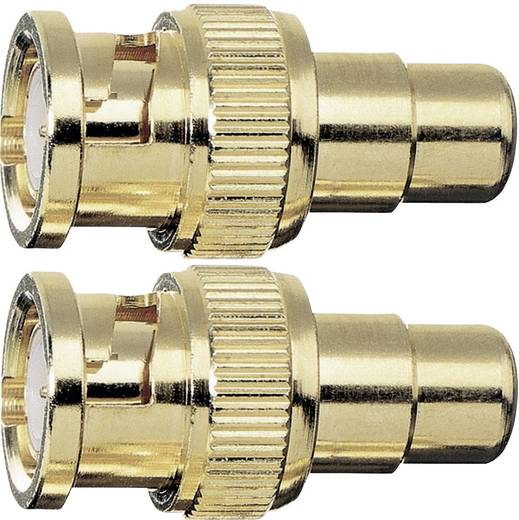 Cinch / BNC Adapter [1x Cinch-Buchse - 1x BNC-Stecker] Gold vergoldete Steckkontakte Oehlbach