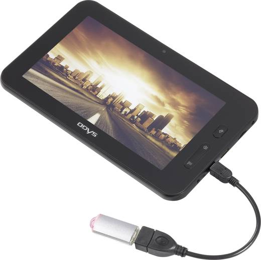 4 Port USB 2.0-Hub mit OTG-Funktion 1195297 Schwarz/Silber