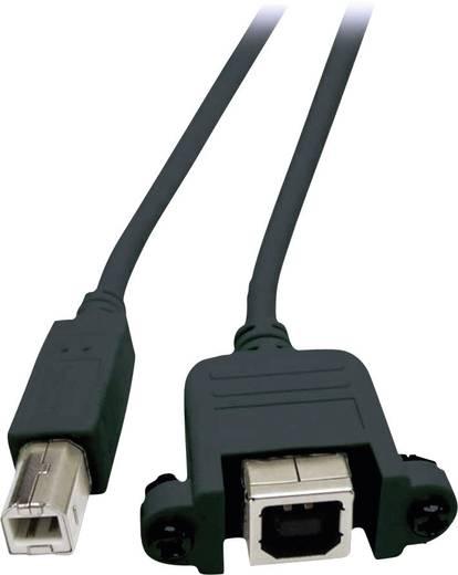 USB 2.0 Verlängerungskabel [1x USB 2.0 Stecker B - 1x USB 2.0 Buchse B] 0.50 m Schwarz schraubbar EFB Elektronik