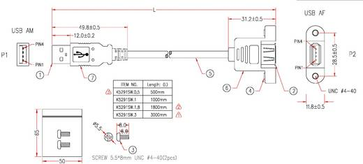 EFB Elektronik USB 2.0 Verlängerungskabel [1x USB 2.0 Stecker A - 1x USB 2.0 Buchse A] 3 m Schwarz