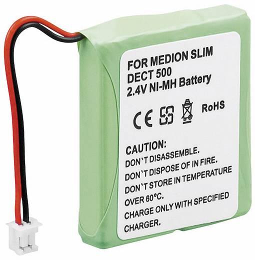 Schnurlostelefon Akku Conrad energy Passend für Marke: Medion, Audioline, DeTeWe, Telekom, AVM, Audioline NiMH 2.4 V 500 mAh
