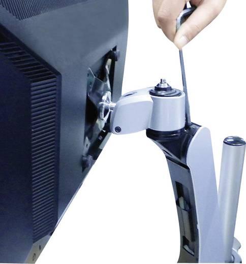 Xergo SuperFlex Monitorhalter, Höhenverstellbar, Tischmontage mit Gasdruck-Technik mit Grommet- und C-Klemme