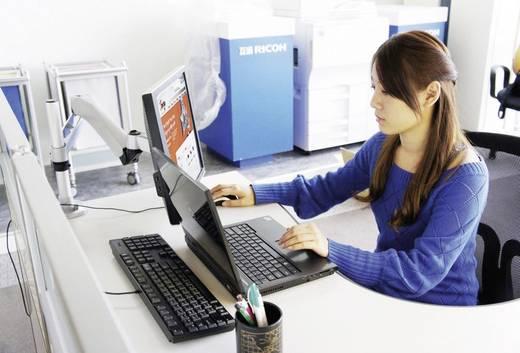 SpeaKa Professional Flex Monitorhalter, Tischmontage mit Gasdruck-Technik mit Grommet-Klemme