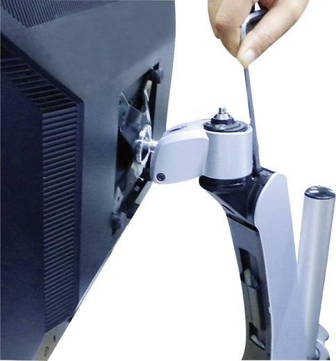 SpeaKa Professional Flex 4fach Monitorhalter, Tischmontage mit Gasdruck-Technik mit C-Klemme