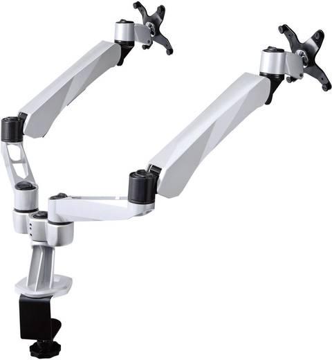 SpeaKa Professional Flex 2fach Monitorhalter, Tischmontage mit Gasdruck-Technik mit Grommet- und C-Klemme