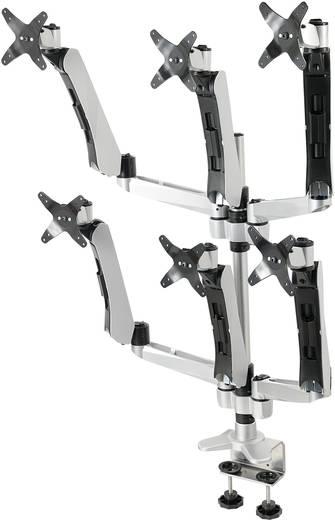 Xergo Flex 6fach Monitorhalter, Tischmontage mit Gasdruck-Technik mit Grommet- und C-Klemme