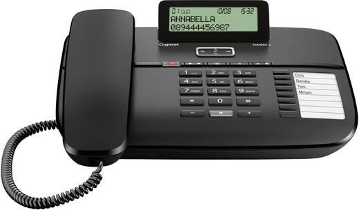 Schnurgebundenes Telefon, analog Gigaset DA810A Anrufbeantworter, Freisprechen Matt Schwarz