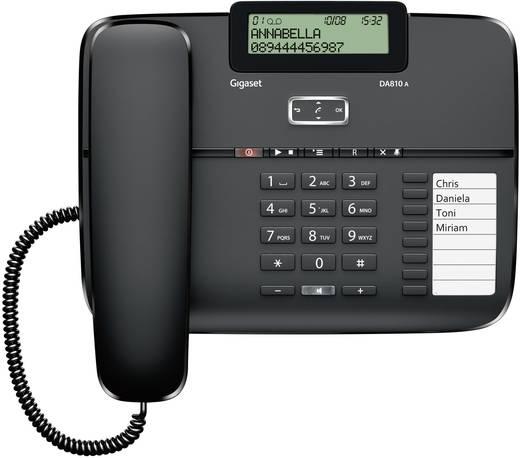 Gigaset DA810A Schnurgebundenes Telefon, analog Anrufbeantworter, Freisprechen Matt Schwarz