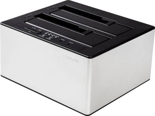 USB 3.0 SATA 2 Port Festplatten-Dockingstation Freecom 56136 mit Clone-Funktion