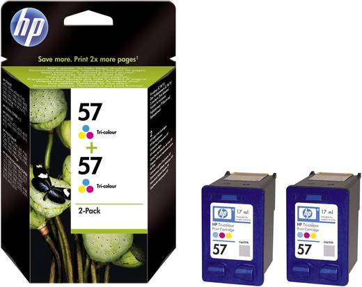 HP Tinte 57 + 57 Original 2er-Pack Cyan, Magenta, Gelb C9503AE