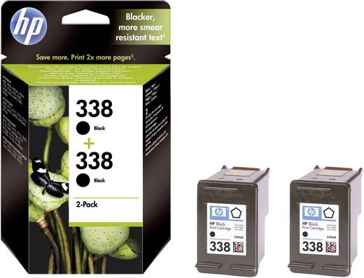 HP Tinte 338 Original 2er-Pack Schwarz CB331EE